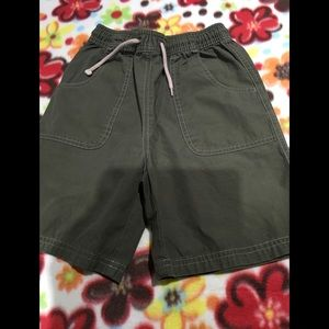 Boys olive green shorts by gymboree size 7